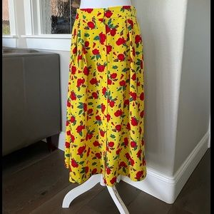 Monki Sigrid print midi skirt Size M
